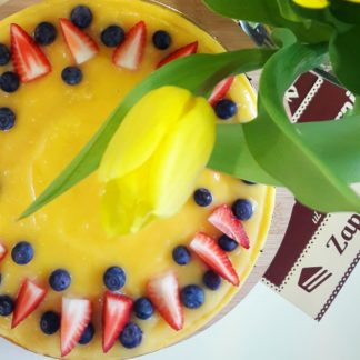 Torcik sernikowy mango-marakuja