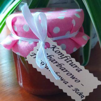 Konfitura rabarbarowo-truskawkowa z różą